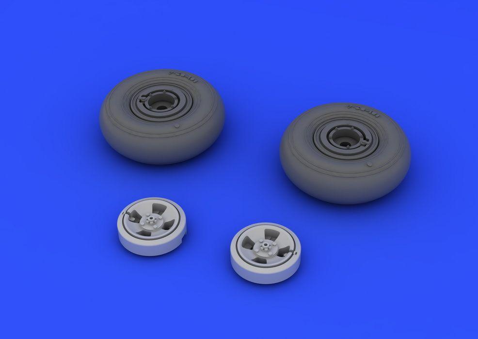 Eduard Spitfire wheels - 4 spoke (EDUARD)