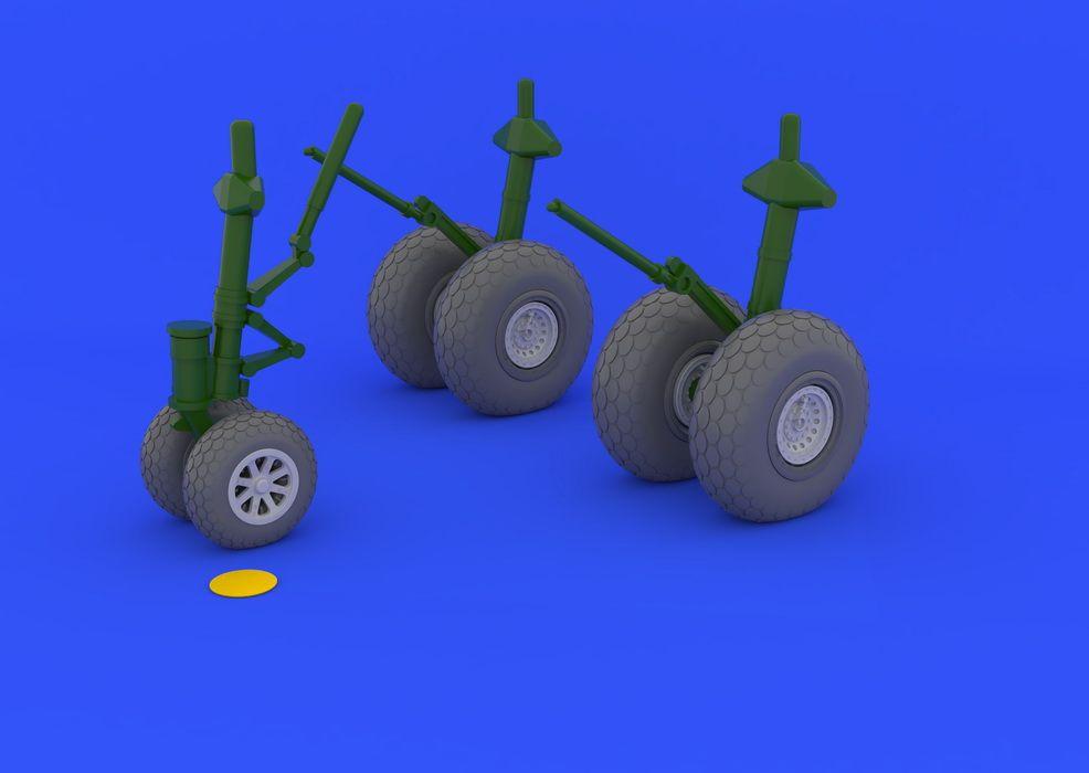 Eduard B-29 wheels (REVELL)