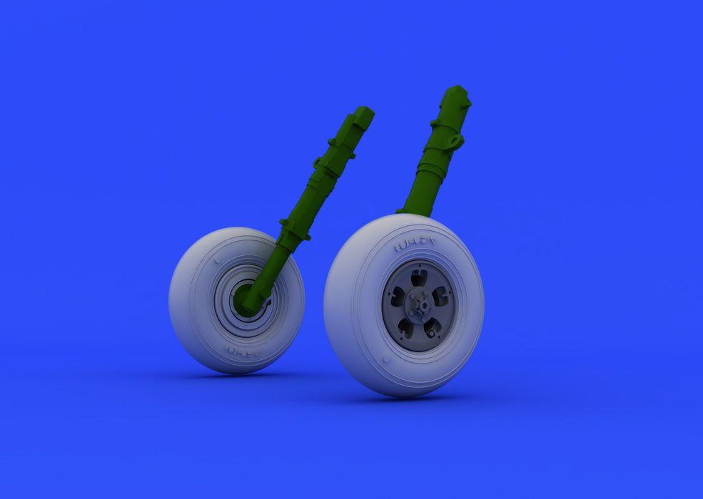 Eduard Spitfire Mk.V wheels (AIRFIX)