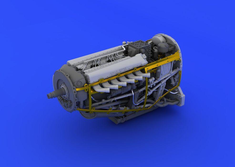 Eduard Spitfire Mk.VIII engine (EDUARD)