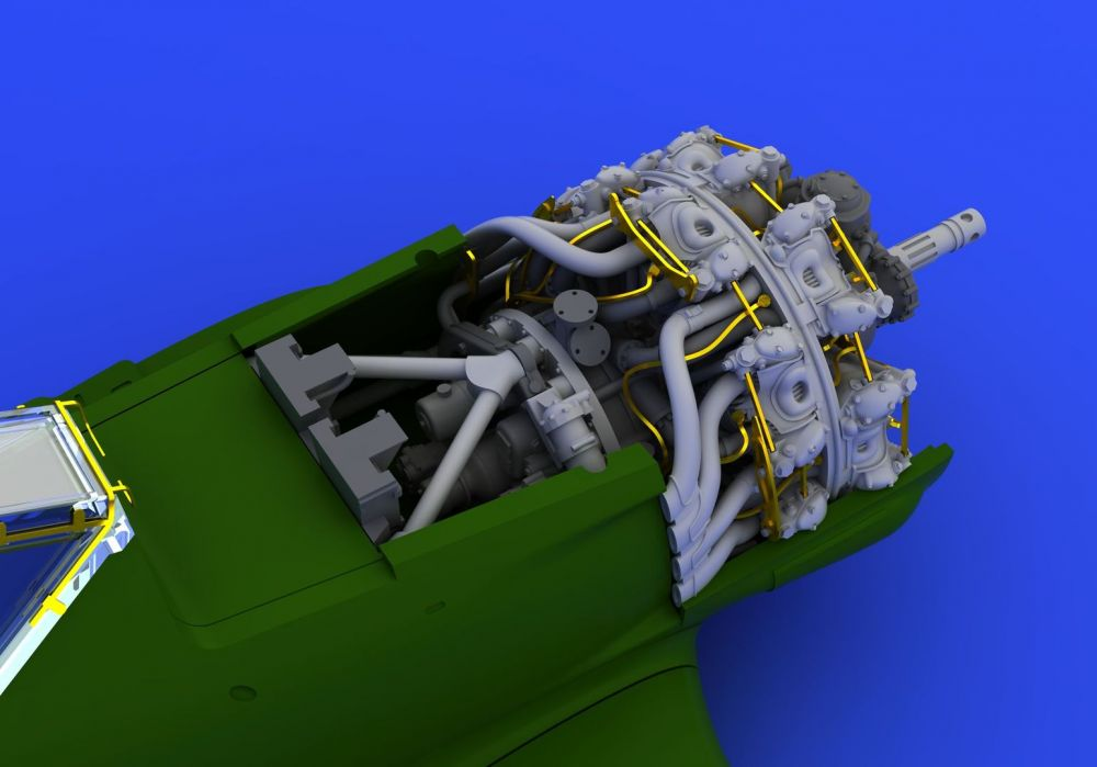 Eduard Fw 190A-8 engine (EDUARD)