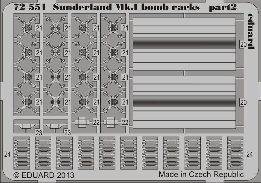 Eduard Sunderland Mk.I bomb racks (Italeri)