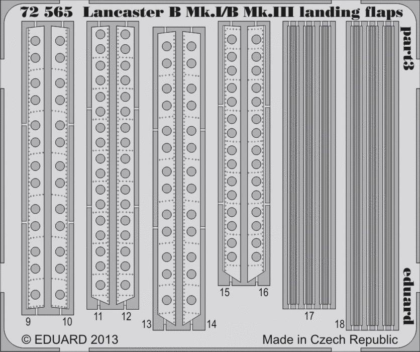 Eduard Lancaster B Mk.I/BMk.III landing flaps (Airfix)