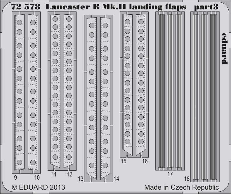Eduard Lancaster B Mk.II landing flaps (Airfix)
