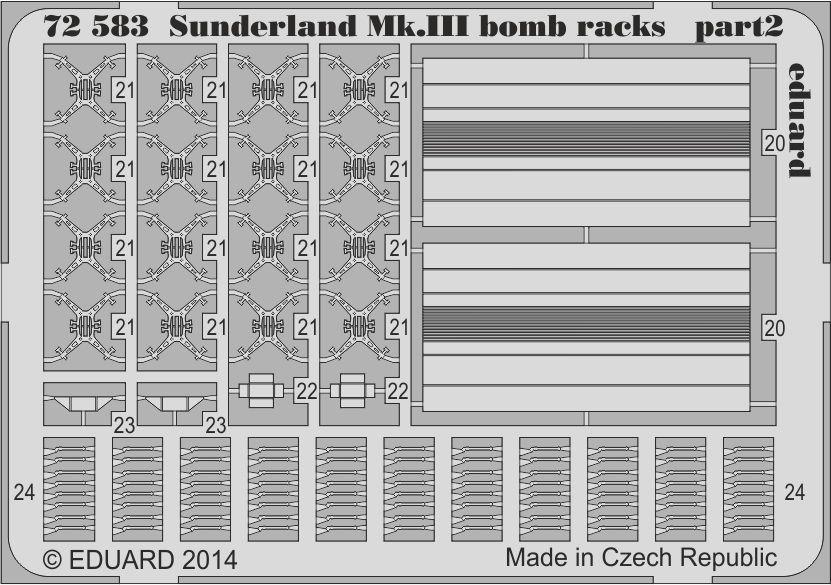 Eduard Sunderland Mk.III bomb racks (Italeri)