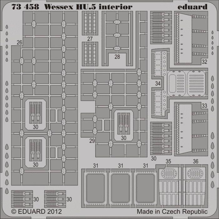 Eduard Wessex HU.5 interior S.A (Italeri)