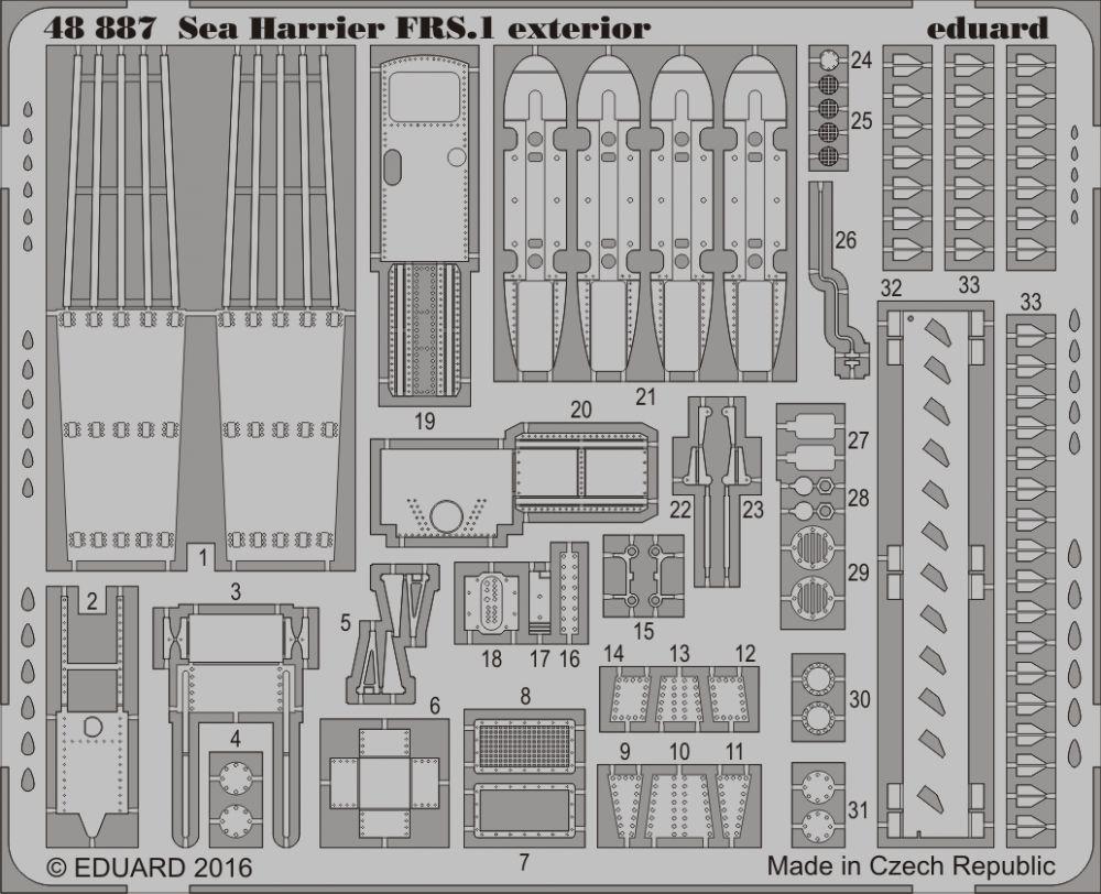 Eduard Big Ed SEA HARRIER FRS.1 (Kinetic Model)