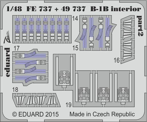 Eduard B-1B interior S.A. (Revell)