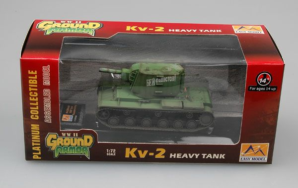 Easy Model KV-2 tank with Early Russian Green