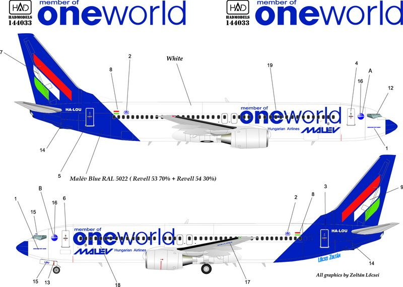 HAD Boeing 737-800 Malév One world
