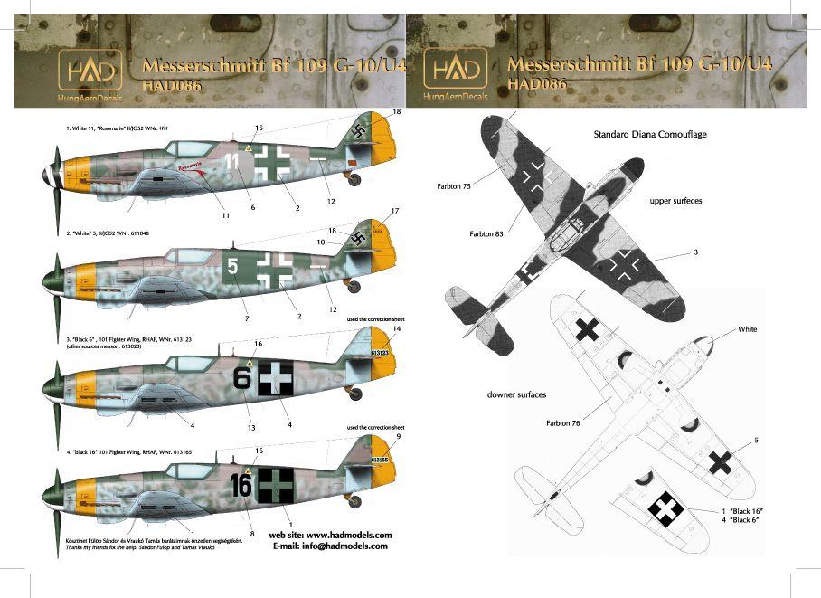 HAD Messerschmitt Bf 109 G-10