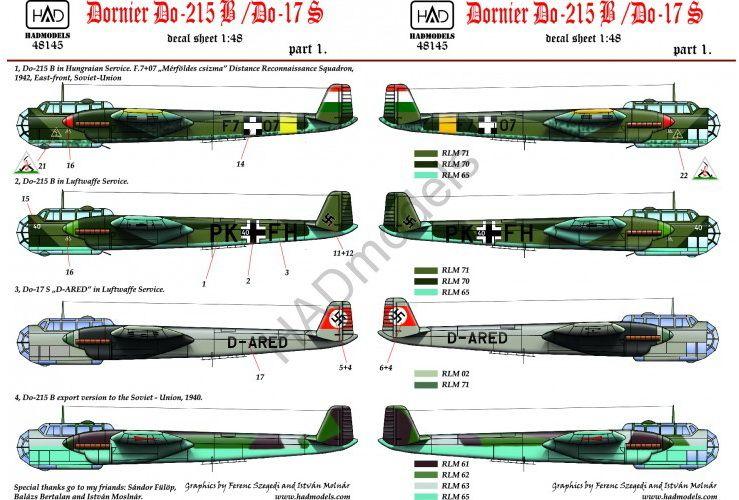 HAD Dornier Do-215 B/ Do-17 S ( Magyar, Német, Orosz)