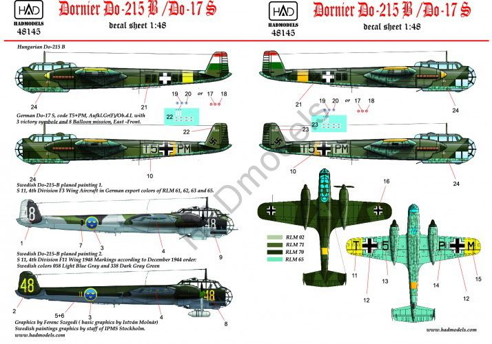 HAD Dornier Do-215 B-4 / Do-17S ( Hungarian, Swedish, German)