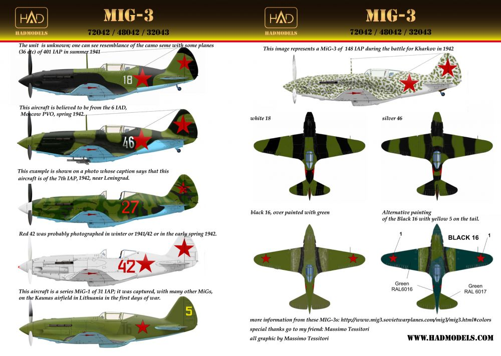 HAD MiG-3 matrica
