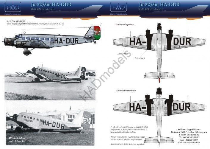HAD Ju-52 HA-DUR