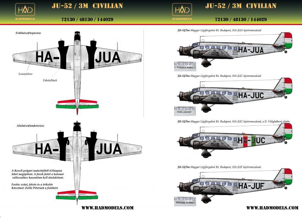 HAD JU-52 civil