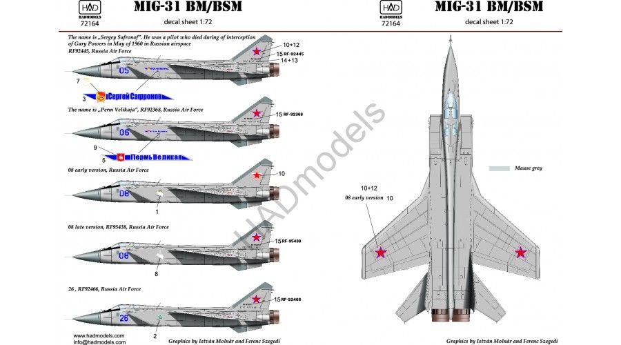 HAD MIG-31 decal
