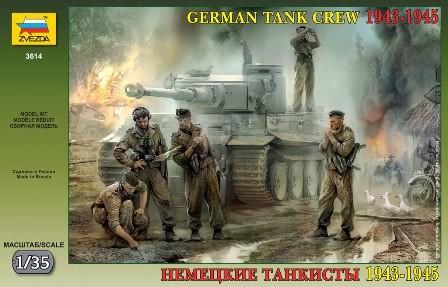 Zvezda German Tank Crew WWII Late