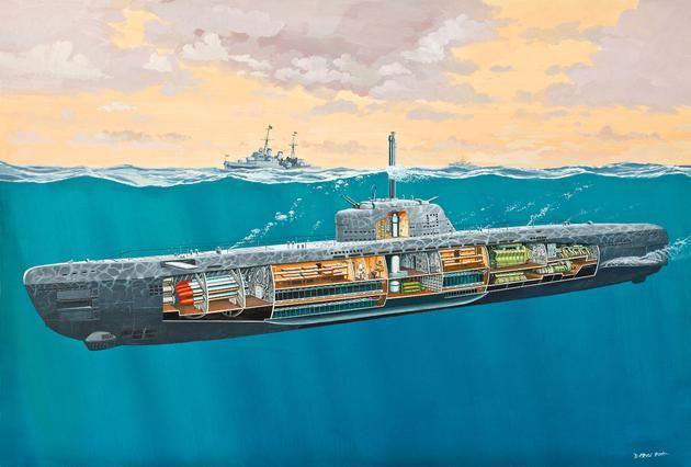 Revell U-Boot Typ XXI w/interior