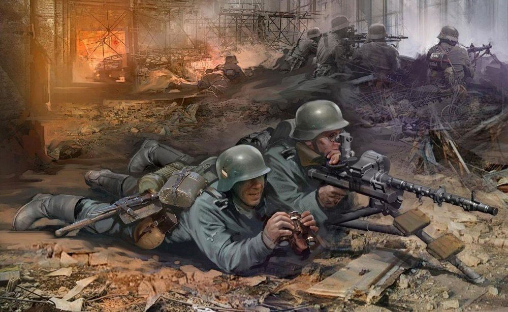 Zvezda German Machinegum Crew East Front 1941