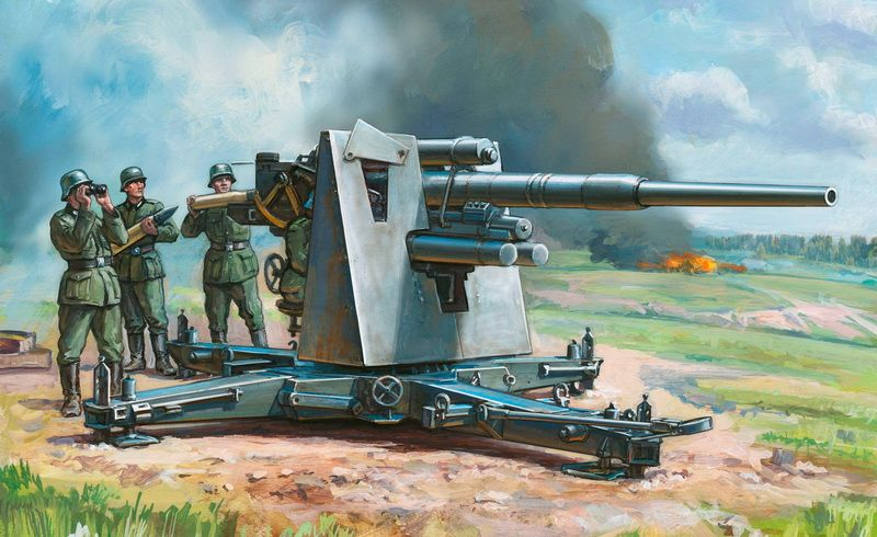 Zvezda German 88 mm Flak 36/37