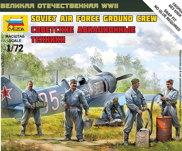 Zvezda Soviet Airforce Ground Crew