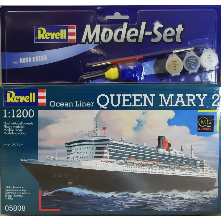 Revell Model Set Ocean Liner Queen Mary 2