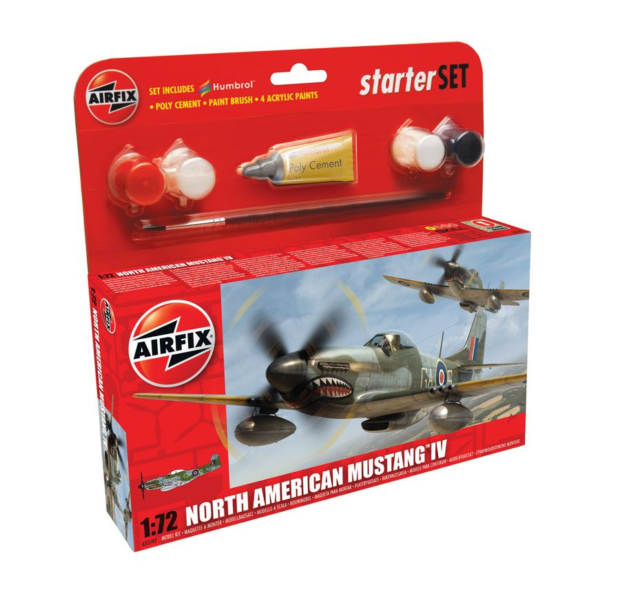 AirFix North American Mustang IV Starter Set
