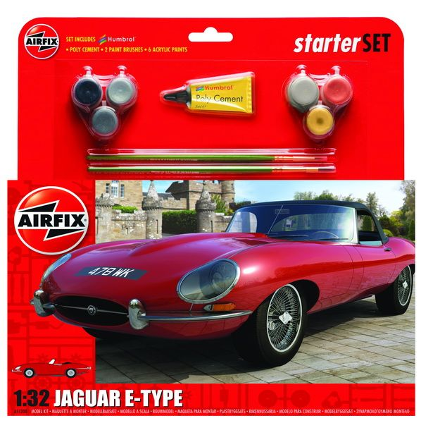 Airfix Jaguar E-type Starter Set