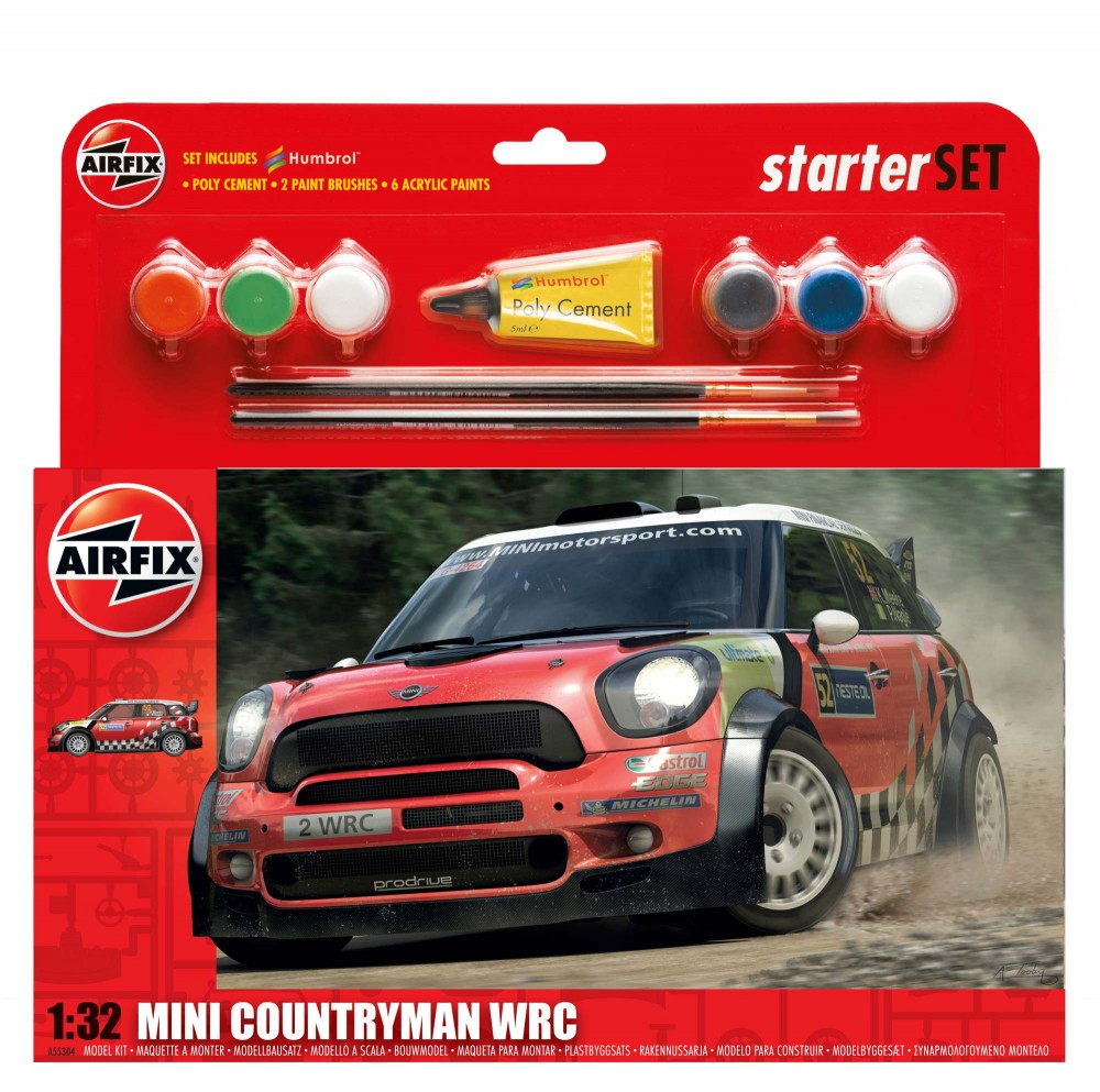 Airfix BMW Mini Countryman WRC gift set