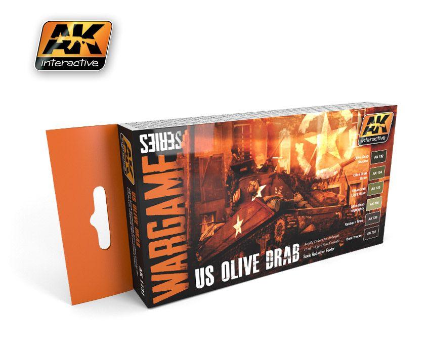 AK Us Olive Drab Set (wargame series)