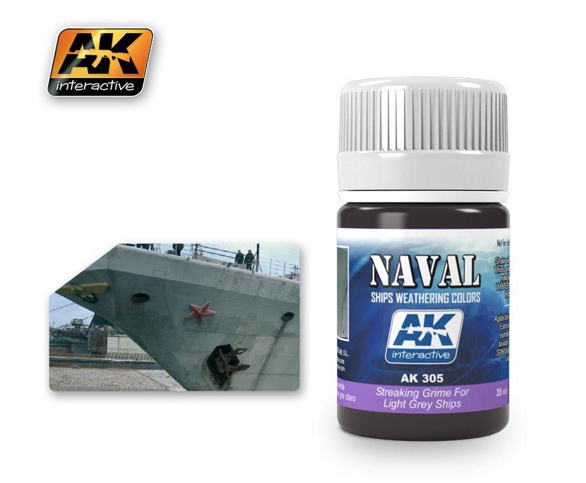 AK Streaking Grime For Light Grey Ships