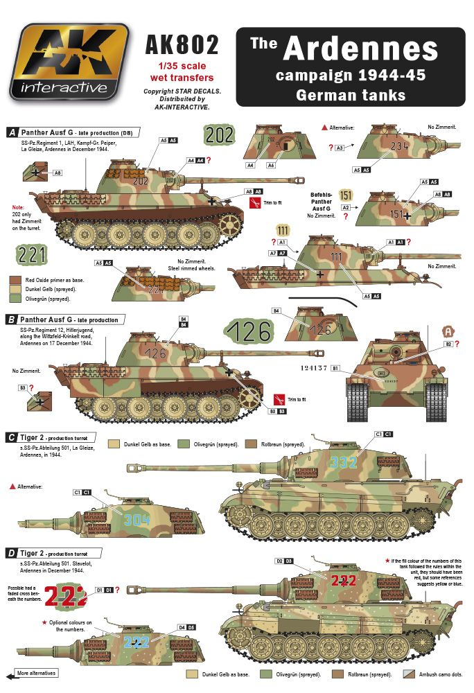 AK THE ARDENNES CAMPAIGN 1944-45 GERMAN TANKS