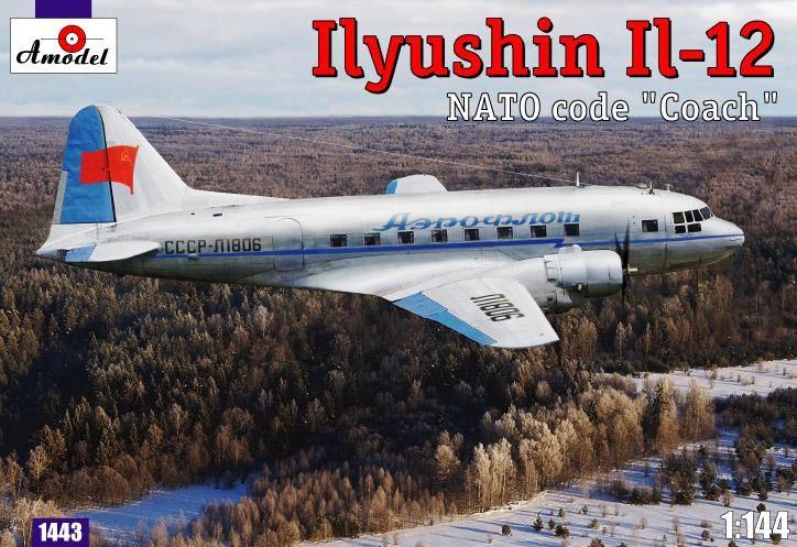 Amodel Ilyushin IL-12 'Coach' Soviet cargo aircraft