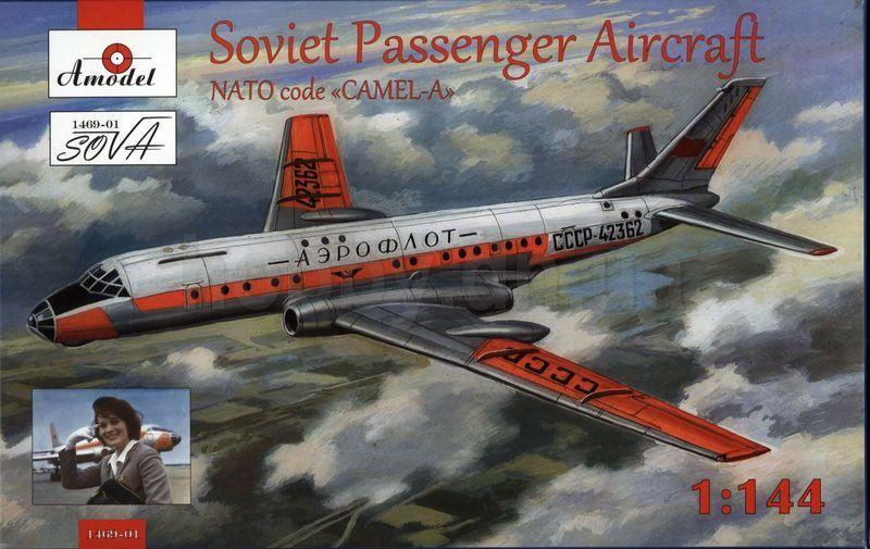 Amodel Tupolev Tu-104 airliner,Aeroflot