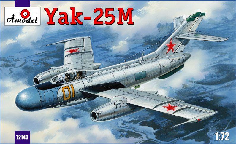 Amodel Yakovlev Yak-25M Soviet fighter