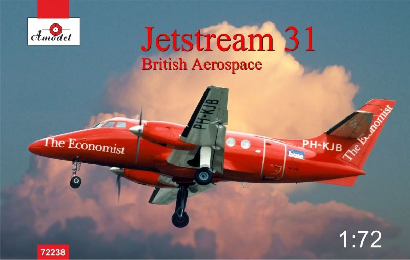 Amodel Jetstream 31 British airliner
