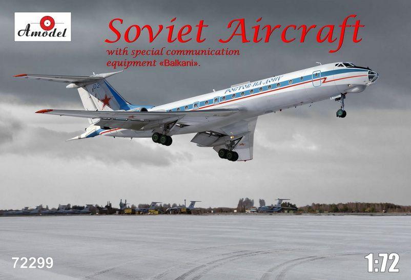 Amodel Tupolev Tu-134AK with eqipment Balkani
