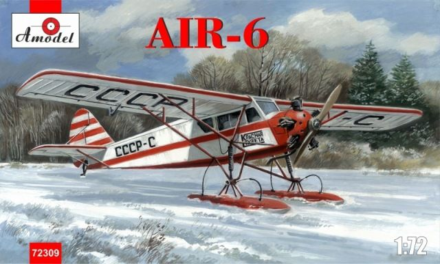 Amodel AIR-6 Soviet monoplane on skis