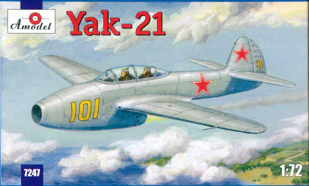 Amodel Yakovlev Yak-21 Soviet jet fighter