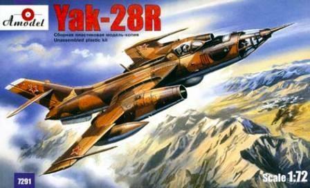 Amodel Yakovlev Yak-28R Soviet interceptor