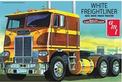 AMT White Freightliner Dual Drive Tractor