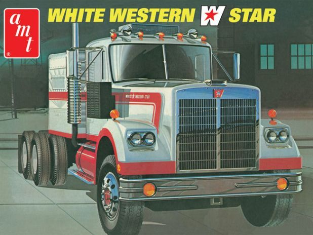AMT White Western Star Semi Tractor