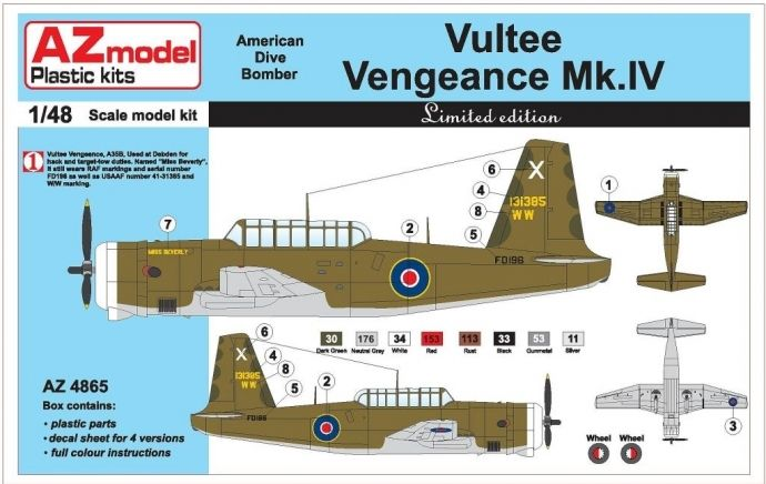 AZ Model VULTEE VENGEANCE MK.IV
