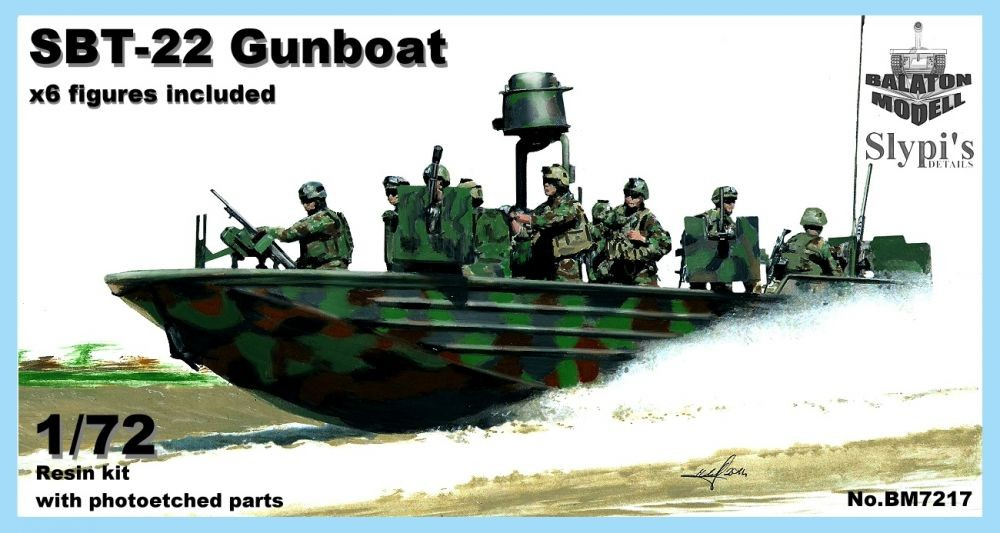 Balaton Model SBT-22 gun boat U.S. 6 figures