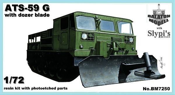 Balaton Model ATS-59G with dozer blade