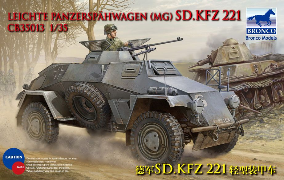 Bronco Sd.Kfz.221 Armoured Car