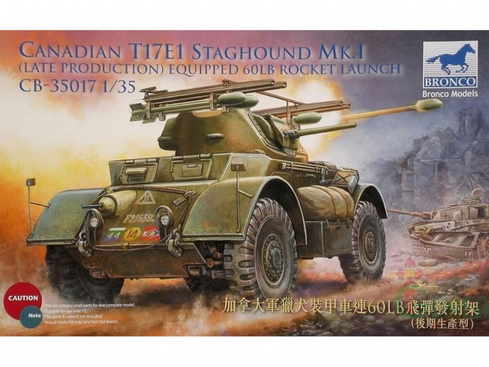 Bronco Canadian T17E1 Staghound Mk.I Late