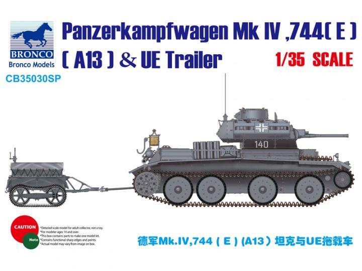 Bronco Pz.Kpfw.Mk.IV ,744(E) (A13 Cruiser) & UE Trailer