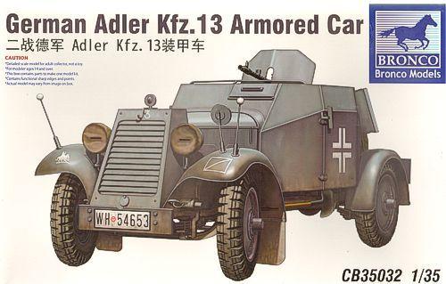 Bronco German Adler Kfz.13 Armoured Car